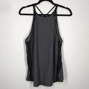 Lululemon grey black mesh tank sz 8